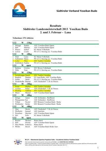 2013-WTResultat-Landesmeisterschaft _2_ - SSV Taufers Yoseikan ...