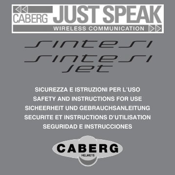 Just Speak Bedienungsanleitung Caberg Sintesi