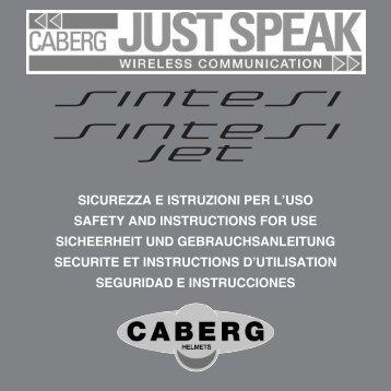Just Speak Bedienungsanleitung Caberg Sintesi