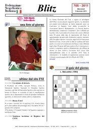 Blitz 766 - 2011 - Federazione Scacchistica Italiana