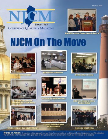 Spring 2010 Issue II - The New Jersey Conference of Mayors