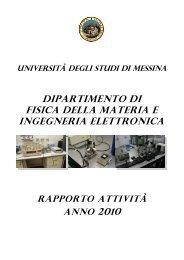 ANNO 2010 - dipartimento di fisica della materia e ingegneria ...