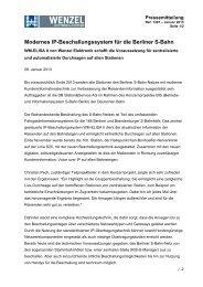 Modernes IP-Beschallungssystem für die Berliner S-Bahn - Wenzel ...