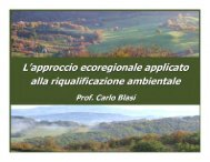 L 'approccio ecoregionale applicato alla riqualificazione ... - catap