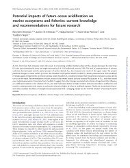 Potential impacts of future ocean acidification on marine ecosystems ...