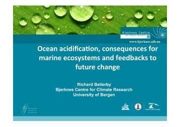 Ocean acidification, consequences for marine ecosystems ... - meece
