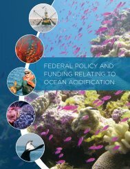 federal policy and funding relating to ocean acidification