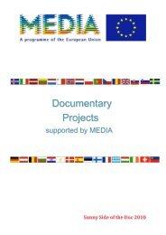 Documentary Projects - MEDIA Desk Deutschland