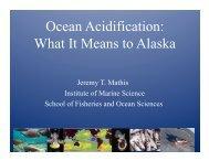 Ocean Acidification and its Impacts on Alaska Fish, Shellfish and ...