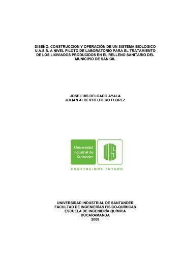 1 diseño, construccion y operación de un sistema biologico uasb a ...