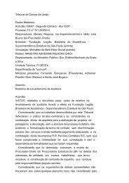 Tribunal de Contas da União Dados Materiais: Acórdão 159/97 ...