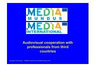 Audiovisual cooperation with professionals from third countries