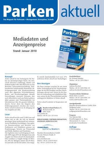 Parken-Mediadaten-2010_A4-2_Layout 1 - maenken kommunikation