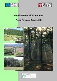 Area forestale: Alta Valle Susa Piano Forestale ... - Sistema Piemonte