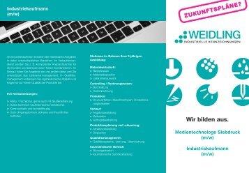 Flyer Ausbildung - Weidling GmbH