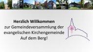 Gemeindeversammlung der evangelischen Kirchengemeinde Auf dem Berg