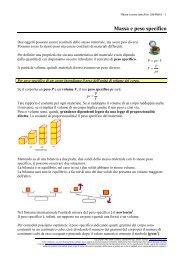 Massa e peso specifico - UbiMath