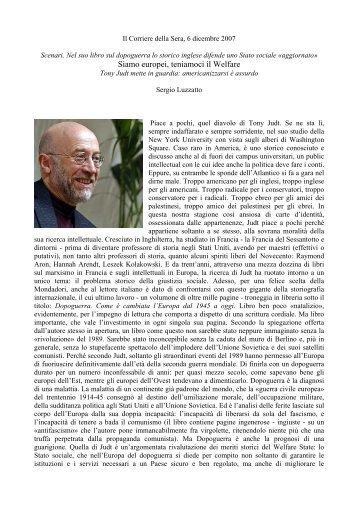 Siamo europei, teniamoci il Welfare - Istituto Marco Belli