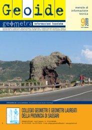 settembre 2009 - Collegio dei Geometri della provincia di Sassari