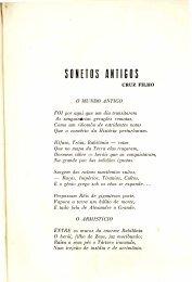 Sonetos antigos - Cruz Filho