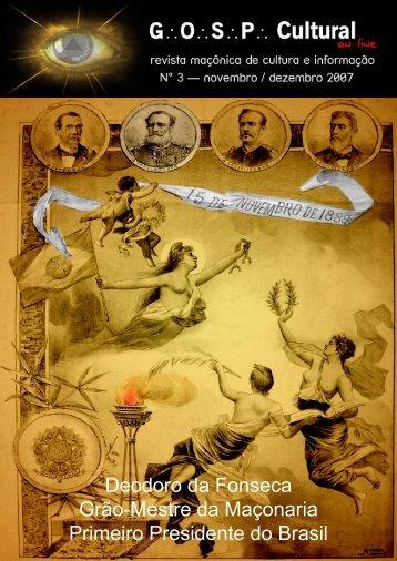 Terceira Edição - Blog da Revista Cultural GOSP on Line
