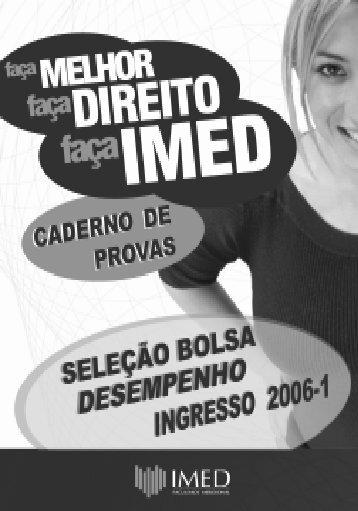 2006 - I - Vestibular IMED