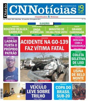 ACIDENTE NA GO-139 FAZ VíTIMA FATAL - É Mais - Notícias ...