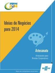 Artesanato para Brindes Corporativos - Sebrae 2014