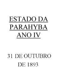 ESTADO DA PARAHYBA ANO IV - CCHLA