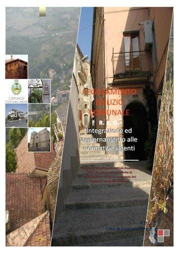 Regolamento edilizio Contursi Terme - Studio Petrillo