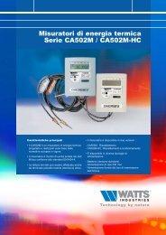 Misuratori di energia termica Serie CA502M ... - Energy Projects