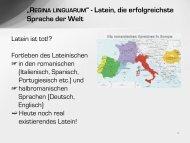 ?REGINA LINGUARUM? - Latein, die erfolgreichste Sprache der Welt