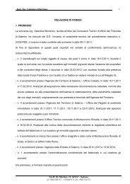 RELAZIONE DI PERIZIA - Aste Giudiziarie Salerno
