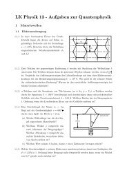 Aufgaben zur Quantenphysik - am Werdenfels-Gymnasium