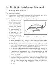 LK Physik 13 - Aufgaben zur Kernphysik - am Werdenfels-Gymnasium