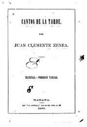 Juan Clemente Zenea: Cantos de la tarde - iberoamericanaliteratura