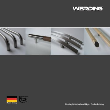 Türgriffe von Werding Edelstahlbeschläge - Produkt-Katalog 2012