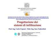 Progettazione dei sistemi di infiltrazione - Ordine degli Ingegneri ...