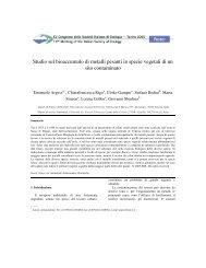 Studio sul bioaccumulo di metalli pesanti in specie vegetali di un ...
