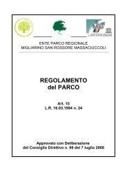 REGOLAMENTO del PARCO - Parco Migliarino San Rossore ...