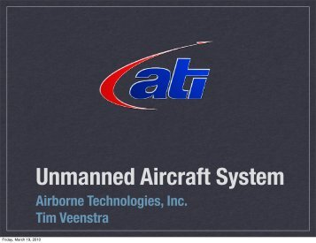 Airborne Technologies, Inc. Tim Veenstra - UNOLS!