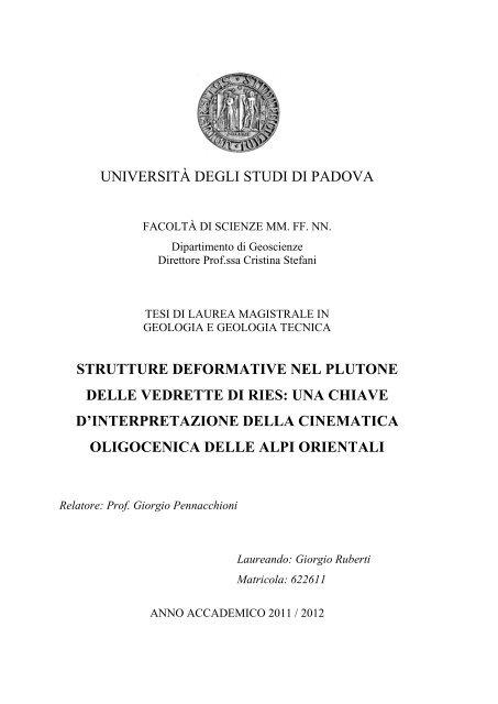 Palermo : D. Flaccovio, 2010. 1.1.1.1.1 Rocce coerenti.