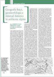 Geografia fisica, geomorfologia e itinerari didattici in ambiente alpino