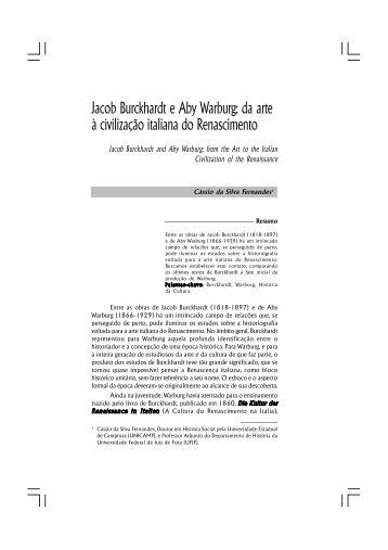 Jacob Burckhardt e Aby Warburg - Universidade Federal de Juiz de ...