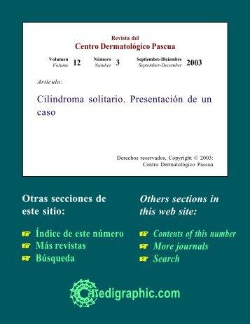 Cilindroma solitario. Presentación de un caso - edigraphic.com