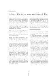 La diaspora della collezione numismatica di Alfonso II d'Este1