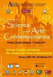 Convegno AIAr La scienza per l'arte contemporanea