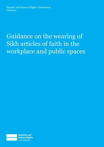 Sikh articles of faith.indd - Equality and Human Rights Commission
