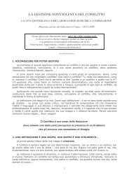 la gestione non violenta del conflitto - Asiru.org