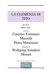 La clemenza di Tito - Fulmini e Saette